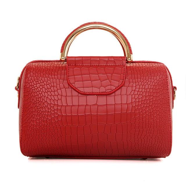 2016 New Fashion Women Shoulder Bags Alligator Ladies Leather Bags Women Handbags Famous Brands Totes Korean Female Handbags
