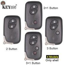 KEYECU para Lexus CT200h IS250 RX350 GS430 GS350 Substituição 2/2 + 1/3/3 + 1 4 botão do Controle Remoto Shell Chave Do Carro Caso Fob