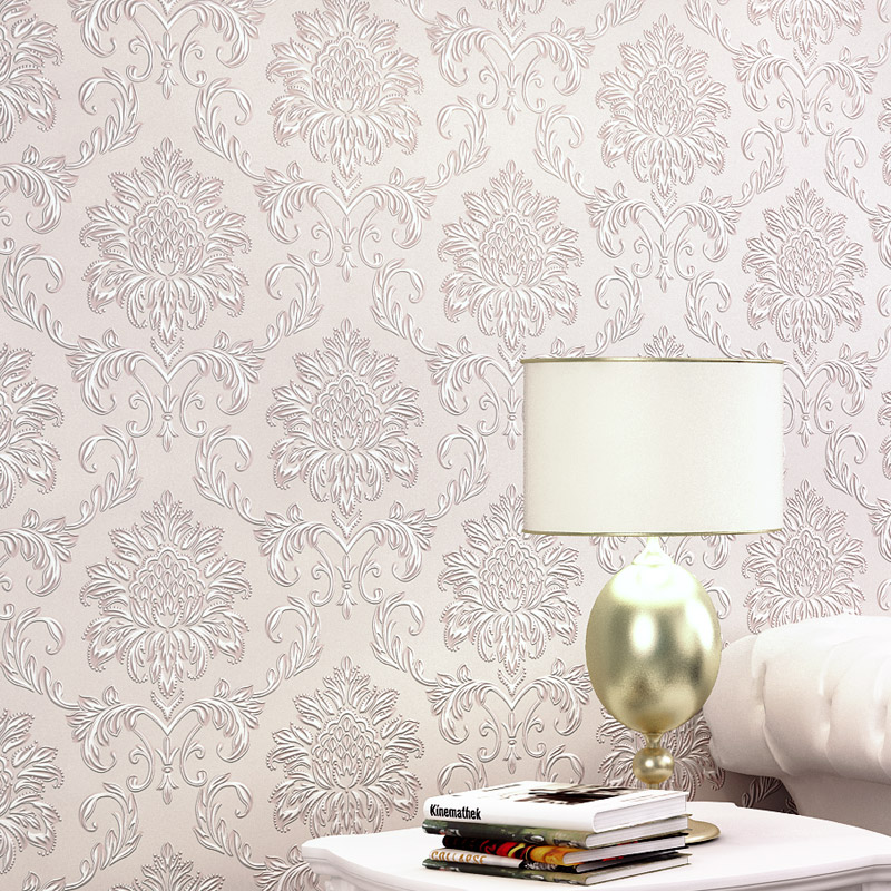 3d Papel de Parede Vinly European Style Damask Wallpaper for Bedding Room wall paper wallpaper modern anchos travelling boat modern textured wallcoverings vintage kids room wall paper papel de parede 53x1000cm