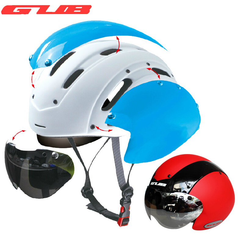 GUB Bicycle bike Cycling Helmet Ultralight Integrally-molded MTB bike Road Bike Helmet goggles TT helmet With Magnetic UV Visor gub k90 outdoor bike bicycle cycling epu helmet gray