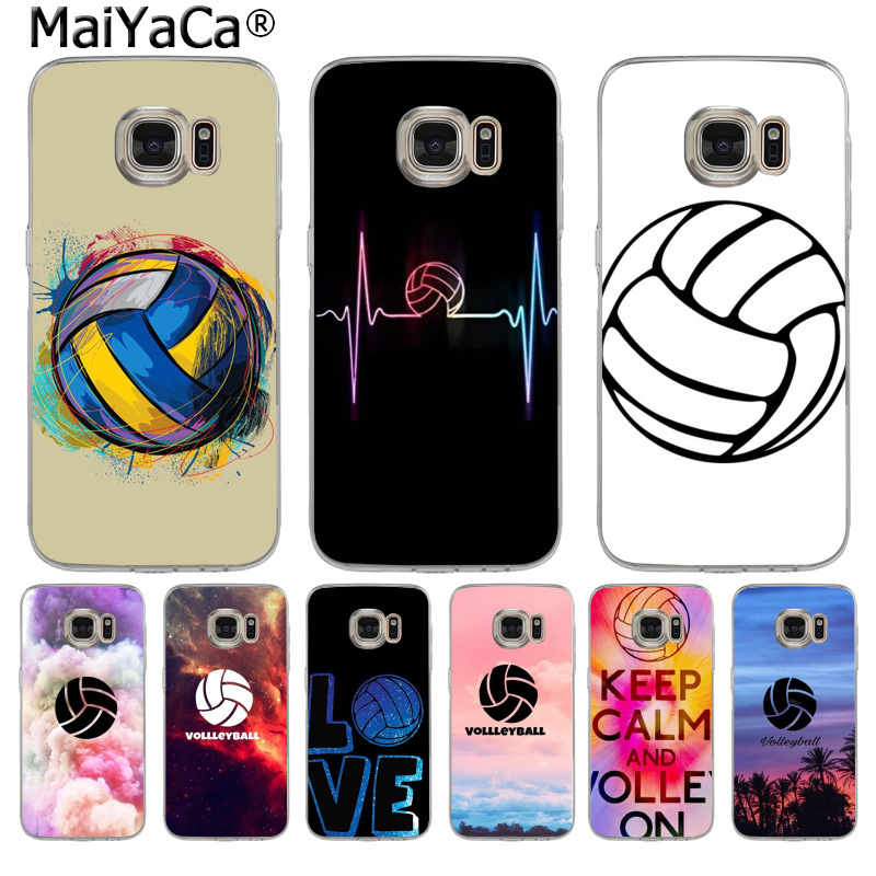 MaiYaCa keep calm and I LOVE play volleyball Luxury phone Case for Samsung S3 S4 S5 S6 S6edge S6plus S7 S7edge S8 S8plus