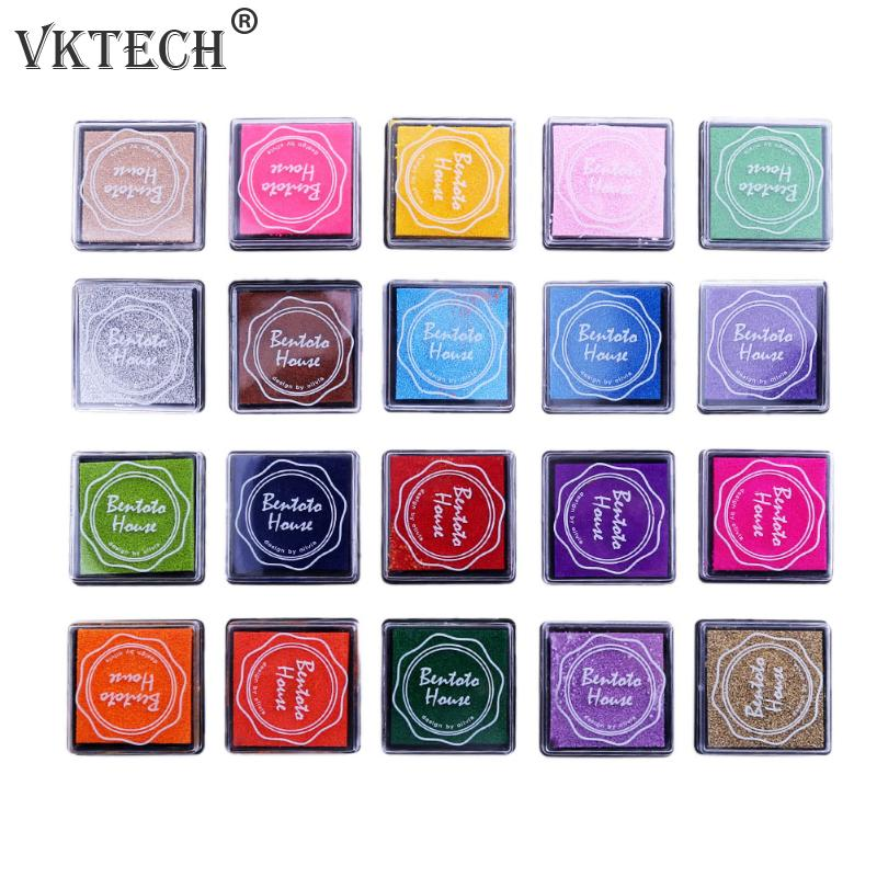 20 Colors Stamp Inkpad  Vintage Crafts Ink Pad Colorful Inkpad Stamps for Scrapbooking Sealing Decoration Stamp 20 colors can choose diy scrapbooking vintage crafts ink pad colorful inkpad stamps sealing decoration stamp