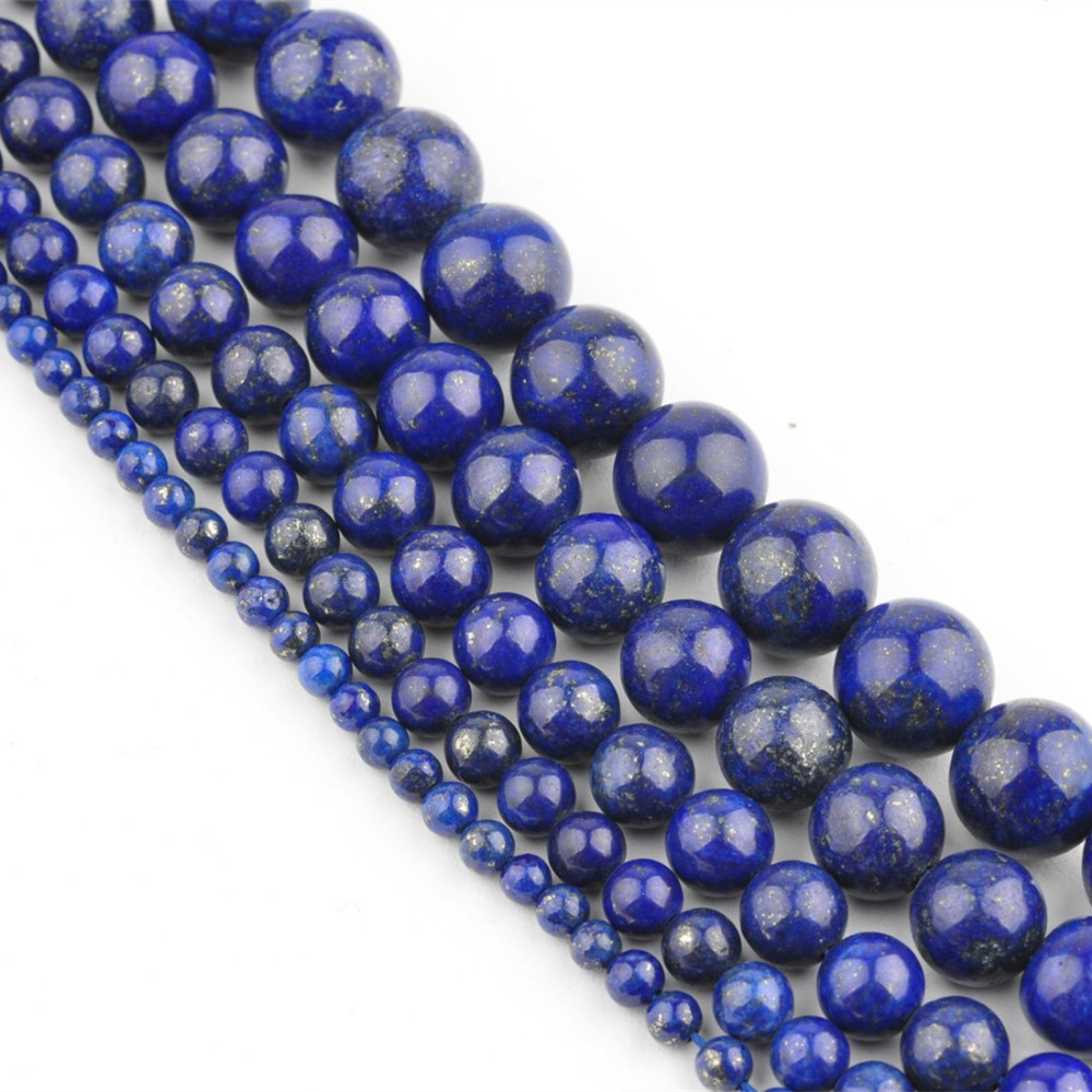 Hot Sale Natural Lapis Lazuli Stone Round Loose Spacer