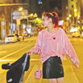 Mujeres Corazón Cariñoso Bordado suéter de Terciopelo Sudaderas UNIF Harajuku Barbie Pink Velour Sudadera Hoodies Ocasionales Flojos Tops