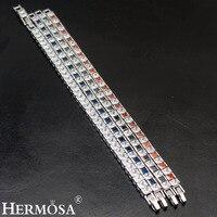 HERMOSA шкатулка Форма модные женские туфли Браслеты несколько стилей 925 серебро браслет Длина 7 дюймов BKSL-008