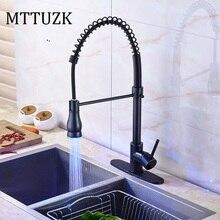 MTTUZK масло bubbed кухня латунь кран весна, pull out кухонный кран горячей и холодной воды смесителя на бортике бассейна кран