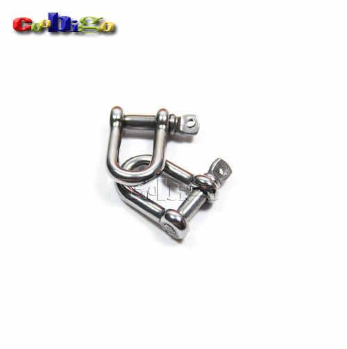 5pcs 5//32 Adjustable D Shackle Stainless Steel M4 Buckles Paracord Bracelet Parachute Cord DIY Outdoor Travel Kits#FLQ045+B2