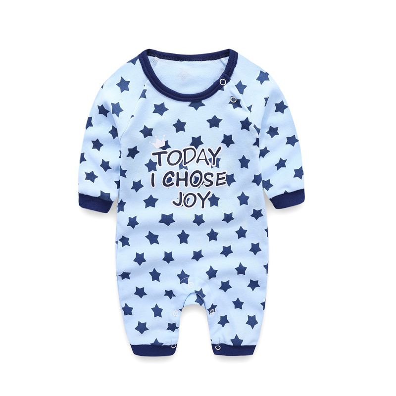 2018 Babysuit Boy Blue Rompers Long Sleeve Onesie Baby Clothes
