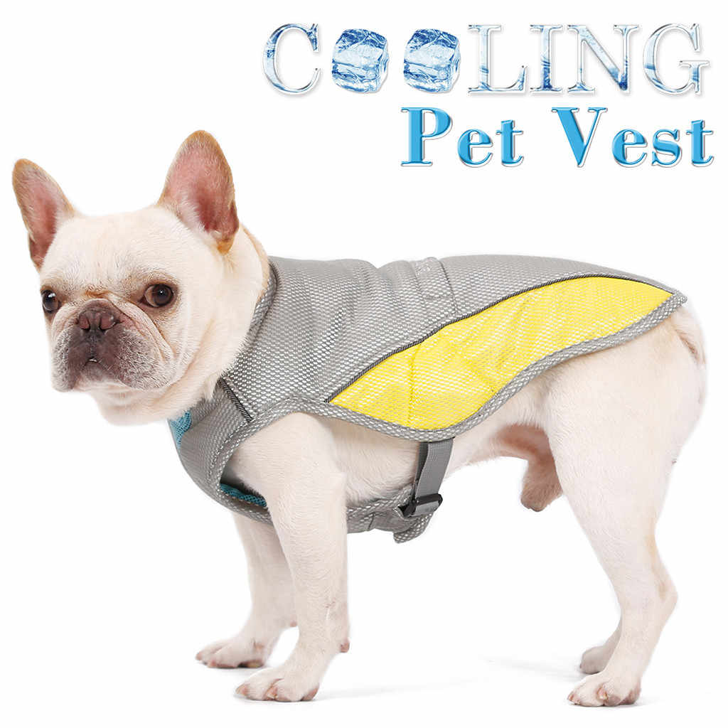 Transer สุนัขเสื้อโพลีเอสเตอร์แฟชั่นสัตว์เลี้ยงสุนัขเย็นฤดูร้อน Breathable สัตว์เลี้ยง Heatstroke Cooling Jersey Perro 19May7 P40