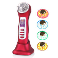 3MHz Ultrasonic Massage Skin Care Galvanic Facial Deep Cleaning Face Lift LED Photon Ultrasound Acne Removal