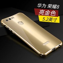 Luxury Metal Case For Huawei Honor 8 Honor8 Mirror Style Aluminum Frame Acrylic Plastic Cover For Honor 8 Phone Accessory
