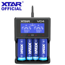 XTAR Battery Charger VC2 VC4 VC2S VC4S LCD Charger For 14500 14650 18350 18490 18500 18700 26650 22650 20700 21700 18650 Battery(China)