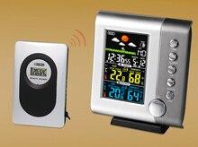 JIMEI H105G-COLOR Display LCD Colorido Sem Fio Ao Ar Livre Indoor termômetro higrômetro Estação Meteorológica Relógio