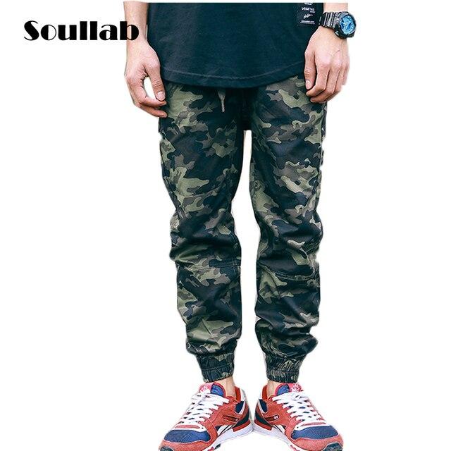 e5209b8d41f07 Soullab mens bottoms CAMO camuflaje basculador pantalones esencial sudor  sweatpants tyga moda rap rapper chicos más