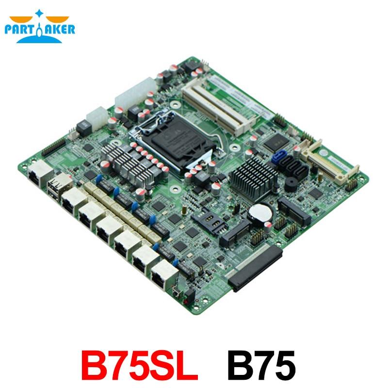 Mini ITX Motherboard B75SL with bypass/6 Gigabit port /ATX /2*COM/6*USB,INDUSTRIAL FIREWALL MOTHERBOARD m945m2 945gm 479 motherboard 4com serial board cm1 2 g mini itx industrial motherboard 100