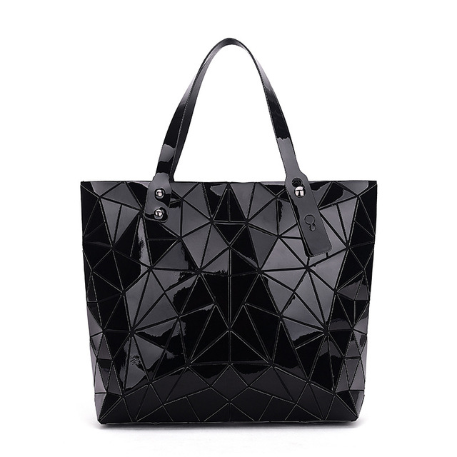 WSYUTUO Handbag Female Folded Ladies Geometric Plaid Bag Fashion Casual Tote Women Handbag Shoulder Bag 2