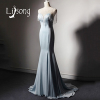 Special Design Evening Dress Beading Tassel Formal Gowns Women Long Dresses Mermaid Gown Vestido De Fiesta
