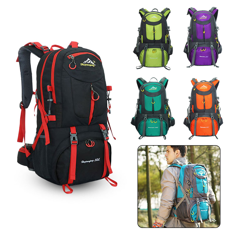 50L Lightweight Climbing Sport Hiking Backpack Waterproof Female Travel Free Knight Outdoor Camping Gym  Men Mountaineering Bags|Climbing Bags| |  - title=