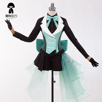 Vsinger Vocaloid Luka Yan He Cosplay Clothes Halloween Party Cosplay Costume Uniform Shirt+Pants+Gloves+Socks
