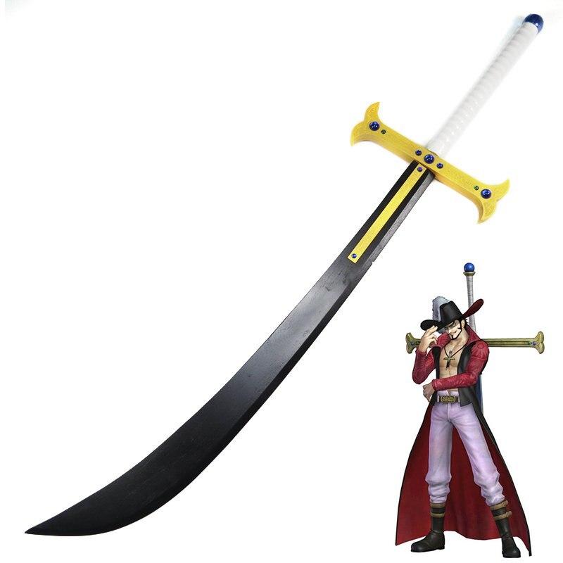Une pièce Dracule Mihawk Sabre l'étoile de nuit épée accessoires d'arme Cosplay en bois pour partys performances collection