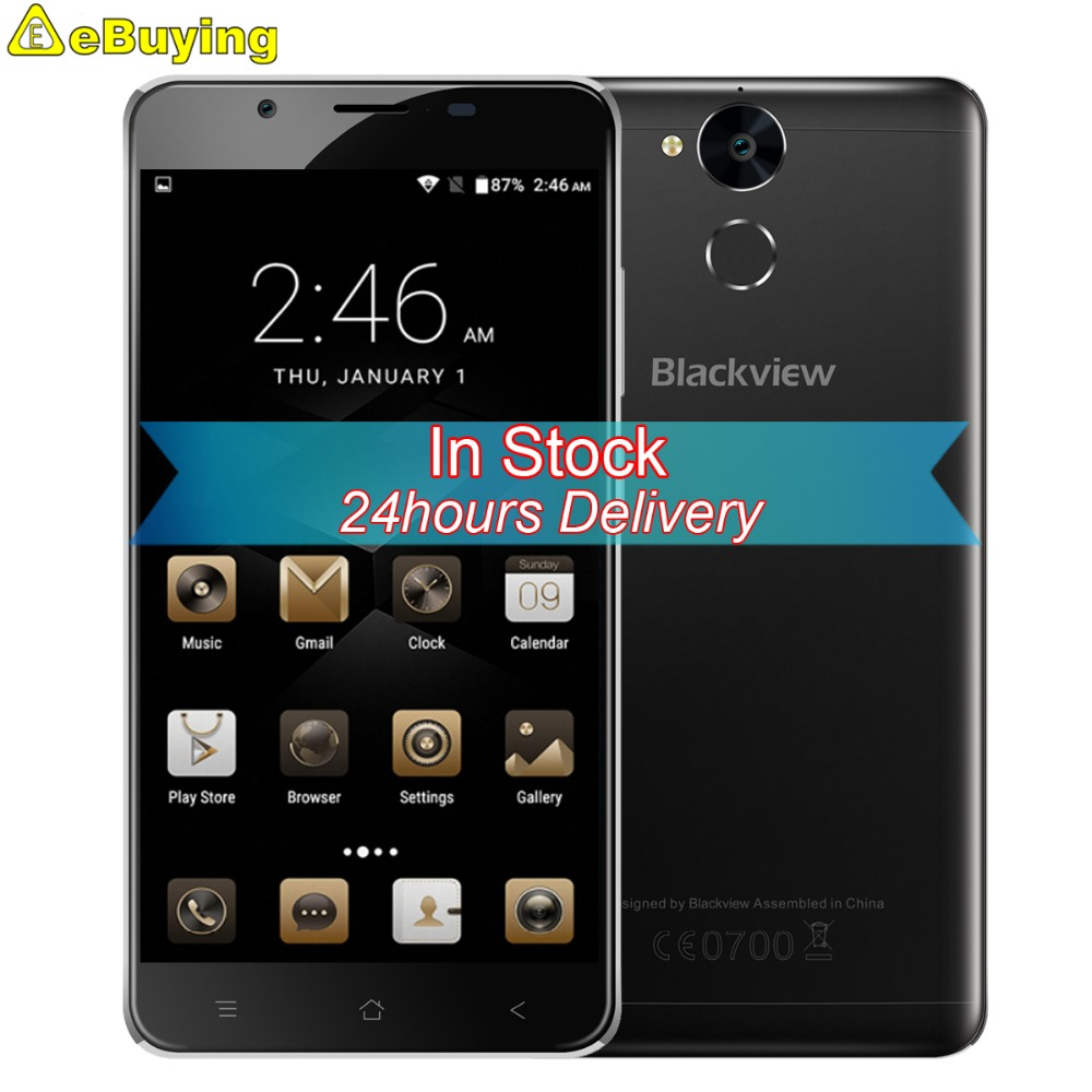 "Цена за 6000 мАч Батареи Blackview P2 Смартфон Android 6.0 MTK6750 Окта основные 4 ГБ RAM 64 ГБ ROM 5.5 ""FHD 13MP Отпечатков Пальцев 4 Г Мобильный Телефон"