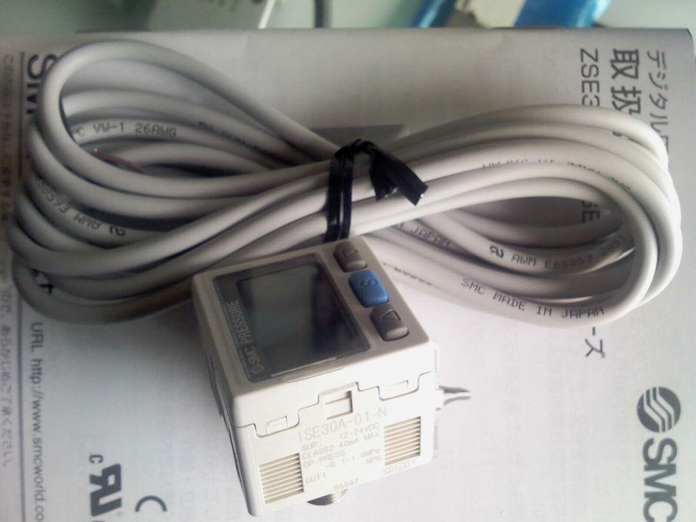 ФОТО JAPAN SMC ZSE30AF-01-N-L-B high precision digital vacuum pressure switch NPN -101.3~100.0KPa with Panel Mount Adapter