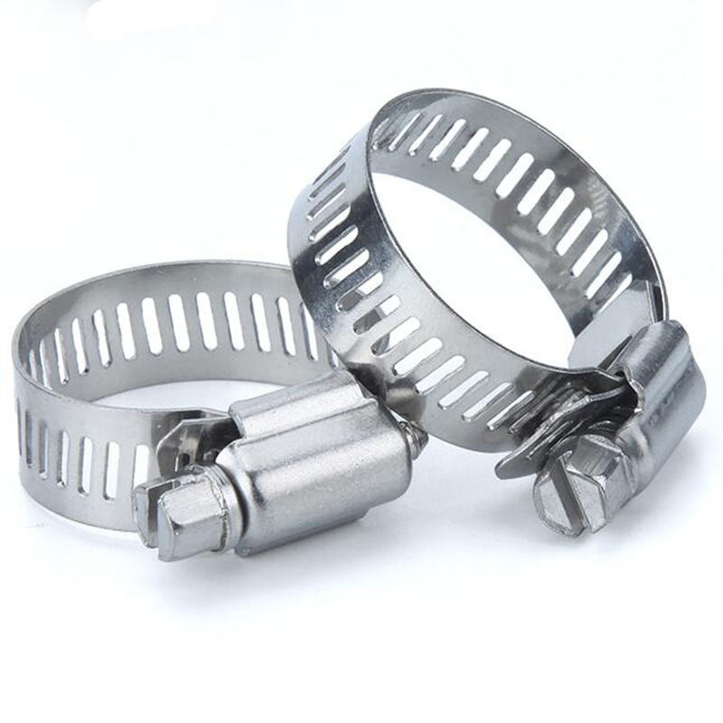 10Pcs Stainless Steel Screw Worm Drive Hose Clamp Strengthen 304 Hoop Pipe Clip Tool