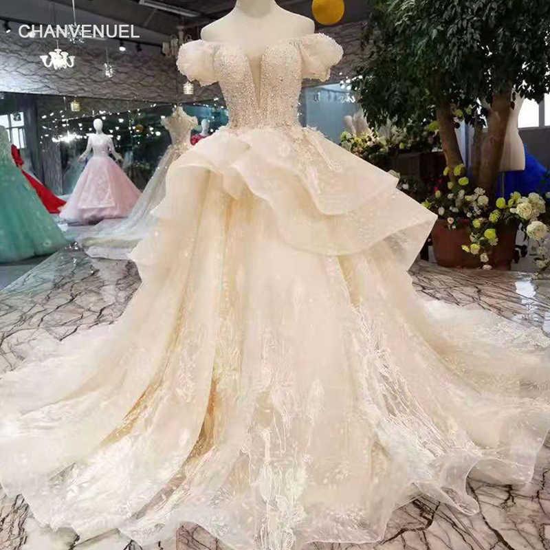 1a7da20cf93 LS11034 fairy wedding dresses multi-layers skirt sweetheart puffy short  sleeves wedding gowns summer small