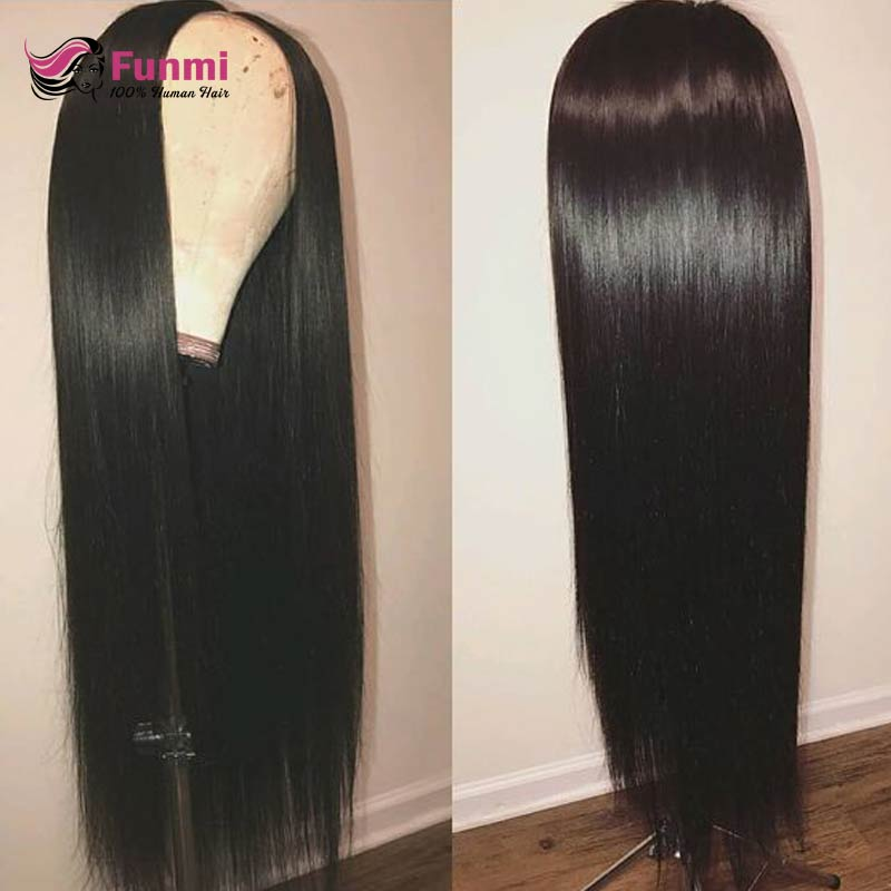 13x4 Straight Lace Front Human Hair Wigs For Black Women Brazilian Straight Lace Front Wig Pre Plucked Hairline Funmi Lace Wig