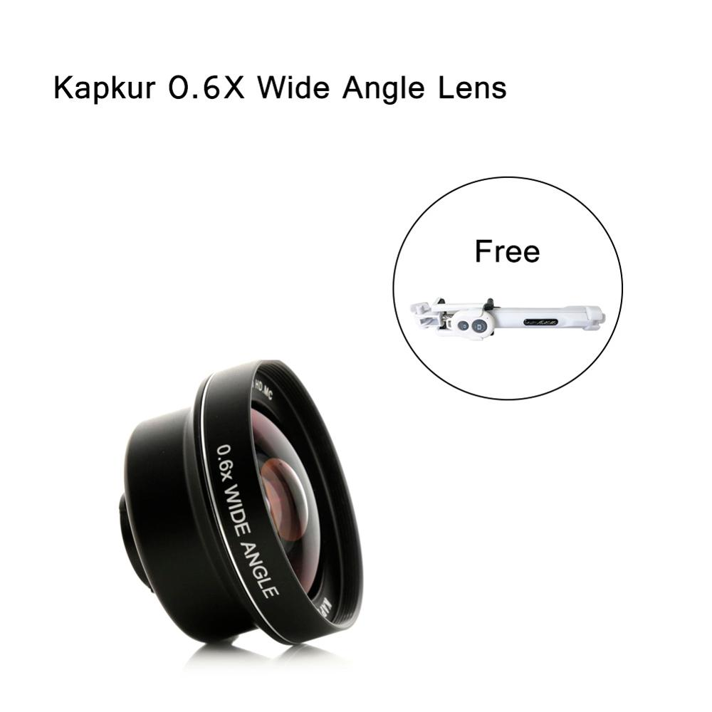 Kapkur phone lens , 0.6X HD 4K from 74 degree to 104 degree wide angle lens , for iPhone series lens with Kapkur phone caseKapkur phone lens , 0.6X HD 4K from 74 degree to 104 degree wide angle lens , for iPhone series lens with Kapkur phone case
