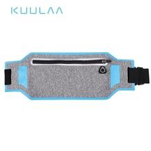 цена на KUULAA Outdoor Sports Waist Packs Pocket Ultra-thin Waterproof Pack Belt Bag Phone Pouch Fanny Hanging Bag Men Women Waist Pack