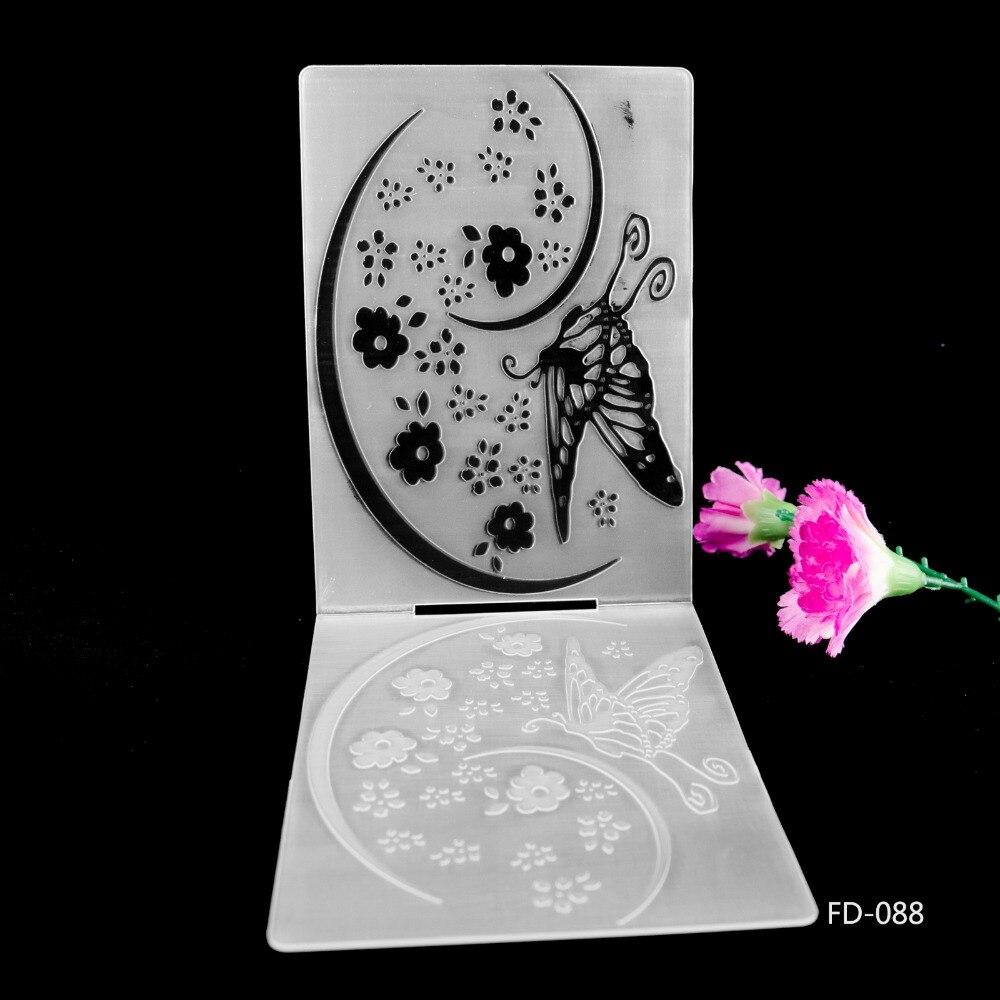 2019 New Arrival Scrapbook Flowers Design DIY Paper Cutting Dies Scrapbooking Plastic Embossing Folder in Embossing Folders from Home Garden