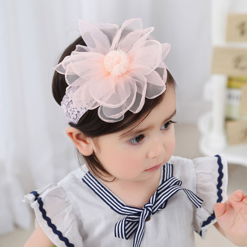 3d5979707bed0 Naturalwell Baby white lace bandage Christening girl headbands Infant girls  headpiece Hairband for newborn Chiffon flower HB070-in Hair Accessories  from ...