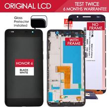 100% Tested Original 5 inch Black White 1920×1080 TFT Display For HUAWEI Honor 6 LCD Touch Screen with Frame H60-L12 H60-L04