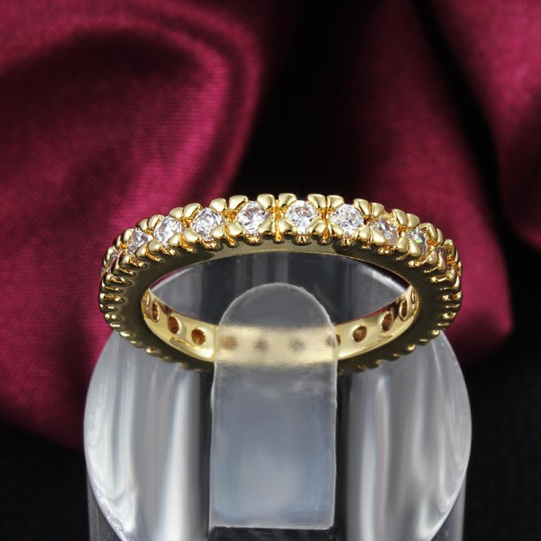 Yhamni Brand Best Quality S Real 24k Gold Filled Tail Ring Full Cz Diamant Wedding Rings