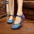 mary jane beautiful flower shoes women fan embroidered Chinese style flats shoes retro fashion ladies oxford women shoes loafers