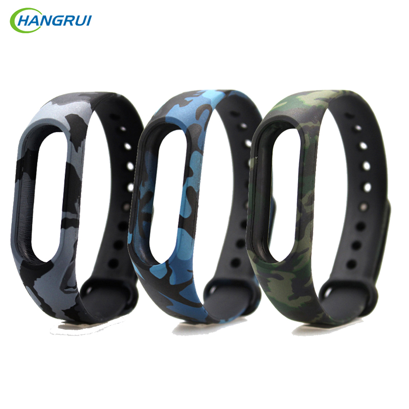 HANGRUI Colorful Silicone Strap for Xiaomi Mi band 2 Wristband Bracelet Strap Replacement Watch Straps For Mi Band 3 Accessories