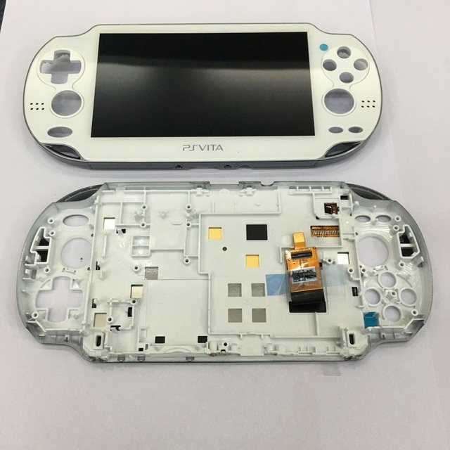 original OLED for psvita for ps vita 1000 lcd display screen with touch assembly with frame black white blue