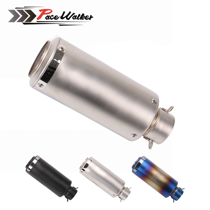 Universal 51mm Motorcycle Muffler Carbon Fiber Exhaust Pipe Motorcycle Exhaust pipe Escape DB Killer motoo 51mm real carbon fiber stainless steel motorcycle exhaust pipe motocross muffler with db killer