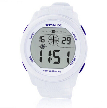 Hot!!! Self Calibrating Internet Timing Men Sports Watches Waterproof 100m Digital Watch Swimming Diving Wristwatch Montre Homme