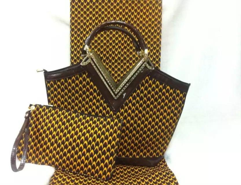 F7 002 free shipping wax font b handbags b font african wax bag with matching wax