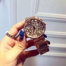 2016 Marca Famosa Llegada Bling Del Reloj Para Mujer de Lujo Reloj de Oro Rosa Cristales Austriacos Shinning montre femme reloj mujer