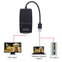 New USB 2 0 To DVI I Multi Display Monitor Video Graphic Converter Video Graphics Adapter
