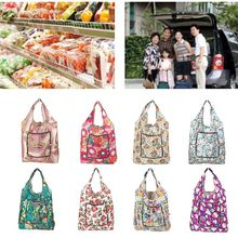 Foldable Handy Shopping Bags Printing Reusable Tote Pouch Recycle Storage Handbags Organizer fashion foldable handy shopping bag reusable tote pouch recycle storage handbags randomly sent 38 60cm