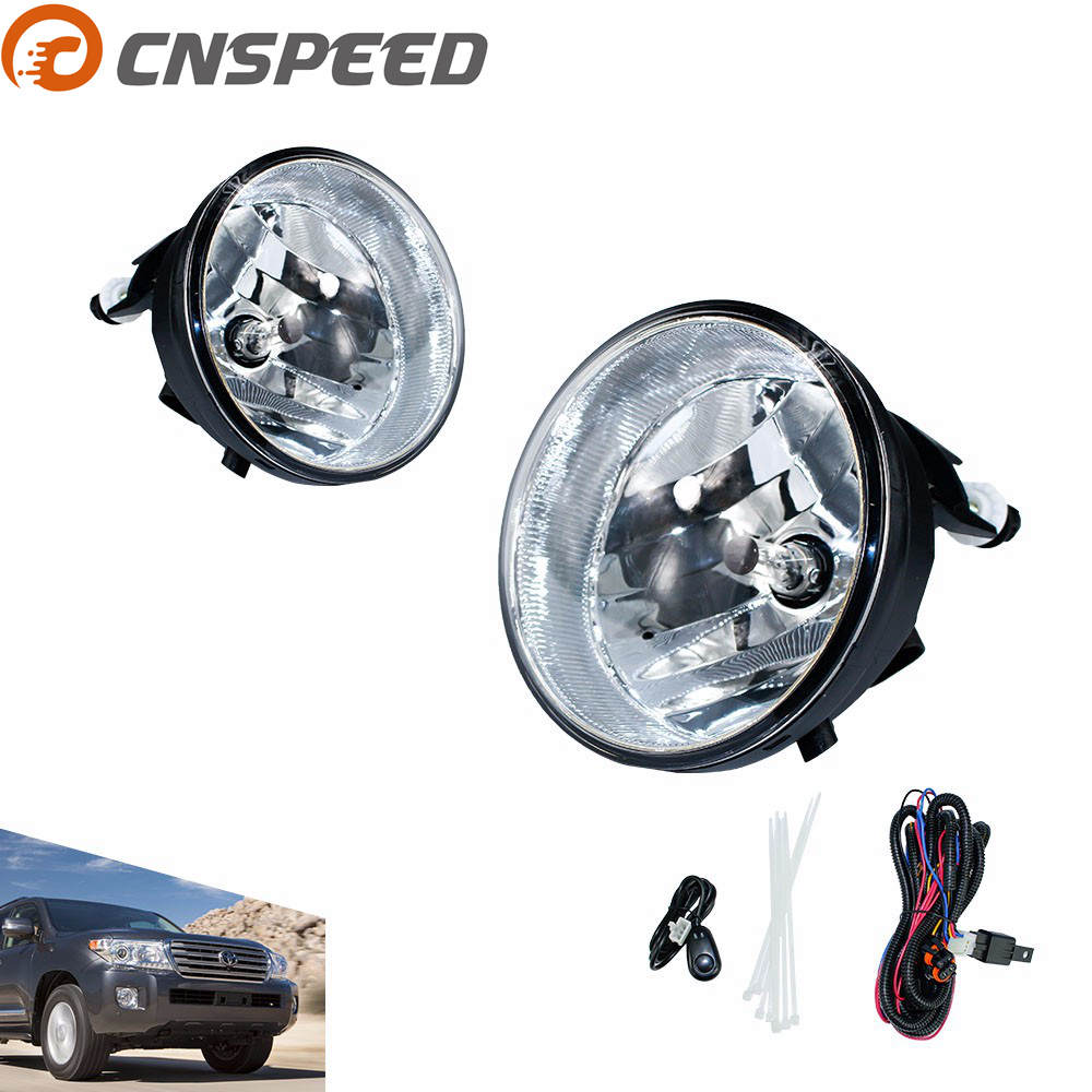 CNSPEED Fog light for Toyota Sequoia Solara Tacoma Tundra Pickup Truck SUV Clear Lens Bumper Fog Lights Driving Lamps YC100925 toyota sequoia tundra модели 1999 2007 г выпуска устройство техническое обслуживание и ремонт