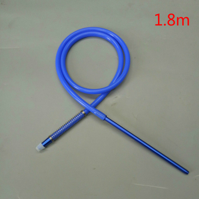 1pc 1.8m shisha hookah silicone hose with straight mouth piece