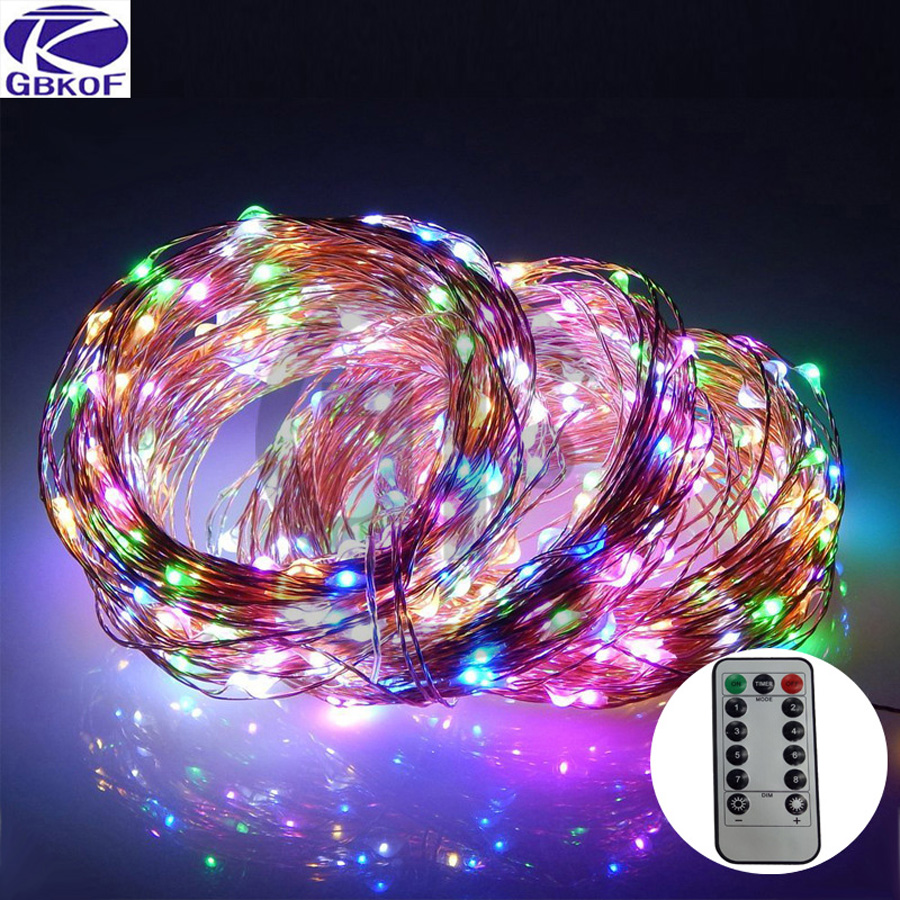 GBKOF 2M 5M 10M USB LED String Light Waterproof LED String Holiday Outdoor Fairy Lights For Christmas Party Wedding Decoration