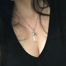 Best Hexagonal Bullet Crystal Pendant Necklace Cheap