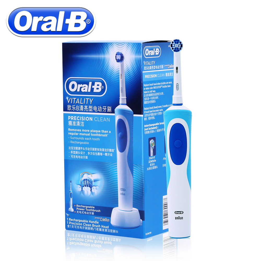 Oral B Sonic Elektrische Zahnbürste Rotierenden Vitalität D12013 Wiederaufladbare Zähne Pinsel Mundhygiene Zahn Pinsel 1 Zähne Pinsel Köpfe