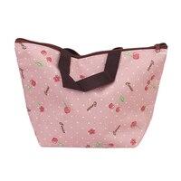 الجملة 5 قطع حقيبة الغداء مربع حقيبة حمل معزول برودة حمل للسفر نزهة-الكرز نمط